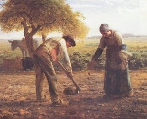 Jean-Francois Millet - The potato growers