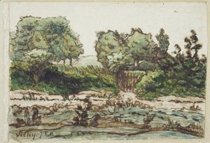 Jean-Francois Millet - Orchard Fence near Vichy