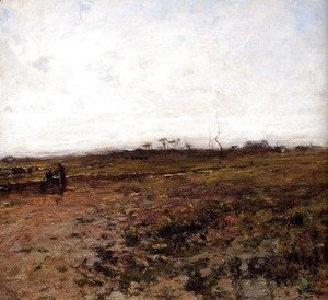 Jean-Francois Millet - Landscape With Two Peasant Women