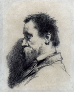 Jean-Francois Millet - Portrait Of A Man  Said To Be Leopold Desbrosses