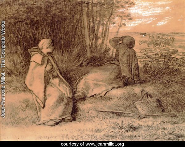 Shepherdesses Seated In The Shade