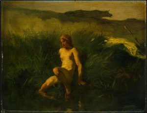 Jean-Francois Millet - The Bather