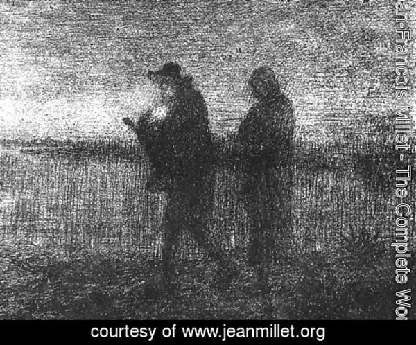 Jean-Francois Millet - The Flight Into Egypt